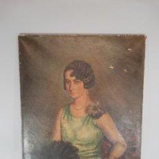 Arte: RETRATO DAMA DE 1929. Lote 215042176