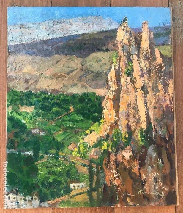PAISAJE. JOSÉ CRUZ HERRERA. LIENZO 46X38. CERTIFICADO DE AUTENTICIDAD. (Arte - Pintura - Pintura al Óleo Contemporánea )