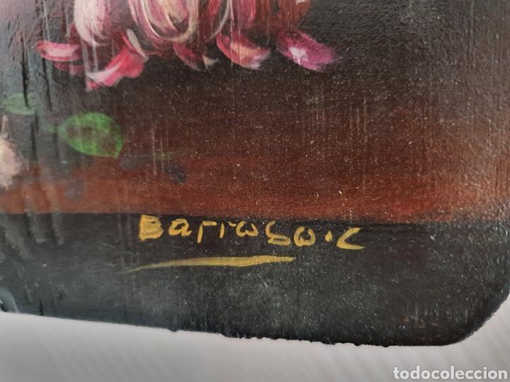 Arte: PRECIOSA PAREJA DE BODEGONES DE FLORES PINTADOS AL OLEO SOBRE TABLA - Foto 5 - 98189592