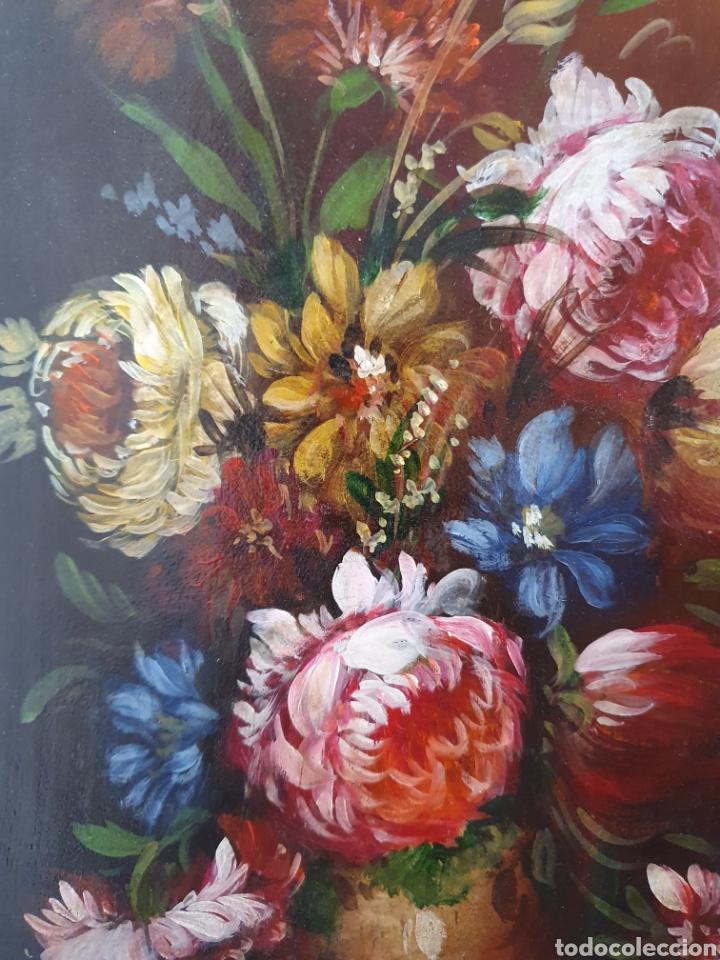 Arte: PRECIOSA PAREJA DE BODEGONES DE FLORES PINTADOS AL OLEO SOBRE TABLA - Foto 6 - 98189592