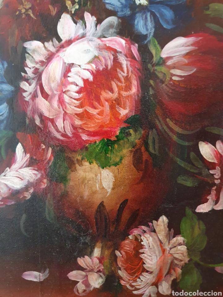 Arte: PRECIOSA PAREJA DE BODEGONES DE FLORES PINTADOS AL OLEO SOBRE TABLA - Foto 7 - 98189592