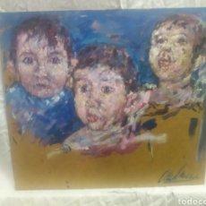 Arte: RETRATO NIÑA EN MOVIMIENTO(ORIGINAL). Lote 215176582
