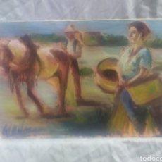 Arte: UN DIA EN EL CAMPO (ORIGINAL). Lote 215177567