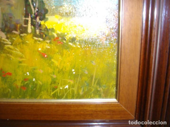 Arte: excelente conjunto oleo firmado¿¿ sobre lienzo con marco (47 x 41 ctms ) incluido - Foto 3 - 215181133