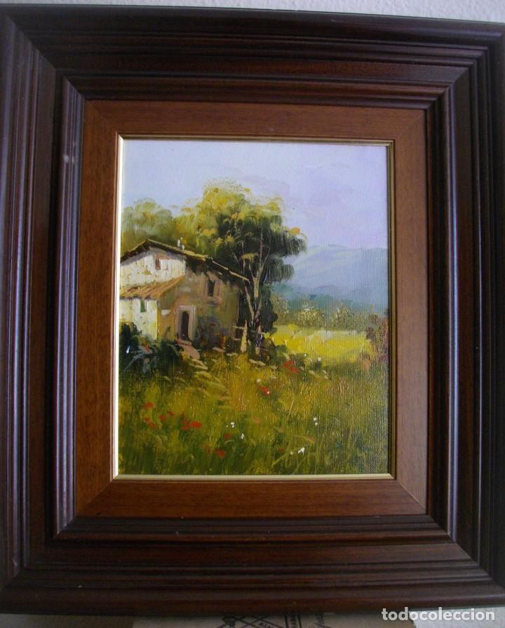 Arte: excelente conjunto oleo firmado¿¿ sobre lienzo con marco (47 x 41 ctms ) incluido - Foto 4 - 215181133