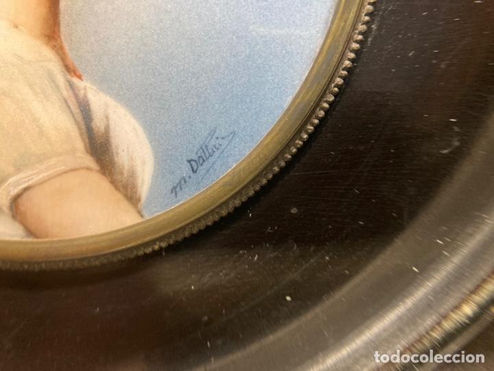 Arte: Preciosa miniatura sobre marfil firmada - Foto 6 - 215191242