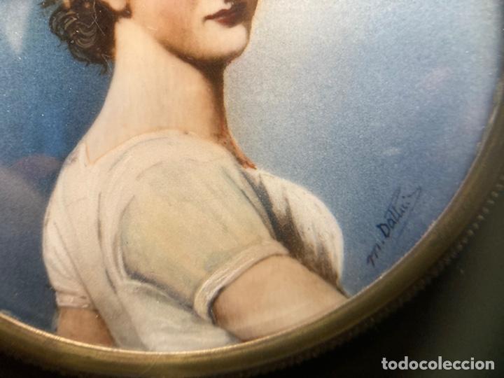 Arte: Preciosa miniatura sobre marfil firmada - Foto 8 - 215191242