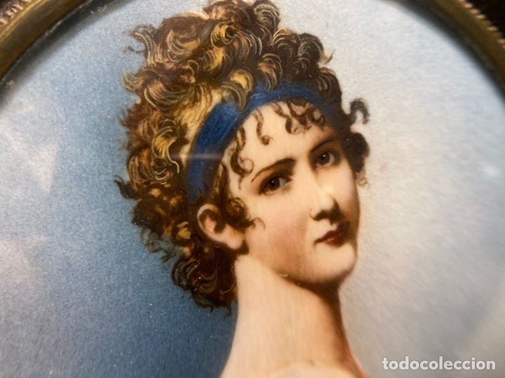 Arte: Preciosa miniatura sobre marfil firmada - Foto 9 - 215191242