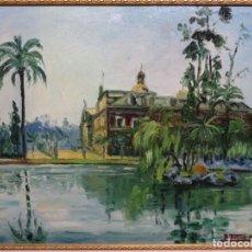 Arte: ÓLEO FIRMADO R. TORNE 1944.BUEN TRAZO Y BIEN ENMARCADO.BARCELONA.. Lote 215228485