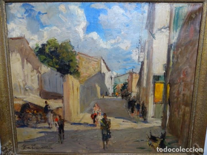 EXCELENTE ÓLEO DE FRANCESC LABARTA I PLANAS(1883-1963).CRUCE DE LA GARRIGA 1942. (Arte - Pintura - Pintura al Óleo Contemporánea )