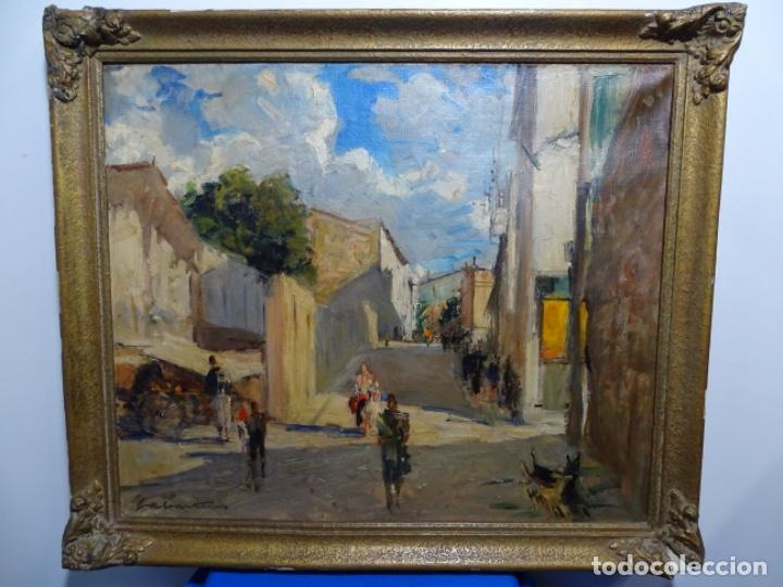 Arte: Excelente óleo de Francesc labarta i planas(1883-1963).cruce de la garriga 1942. - Foto 2 - 215231283