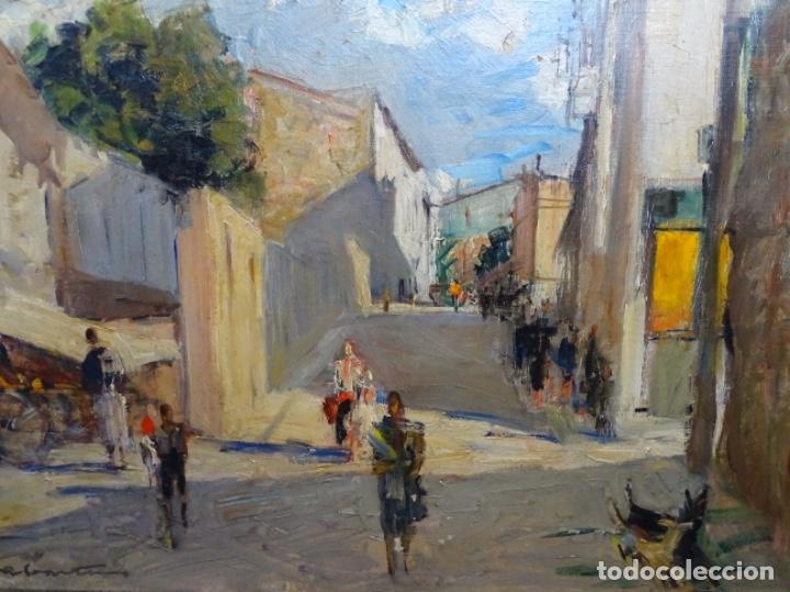 Arte: Excelente óleo de Francesc labarta i planas(1883-1963).cruce de la garriga 1942. - Foto 3 - 215231283