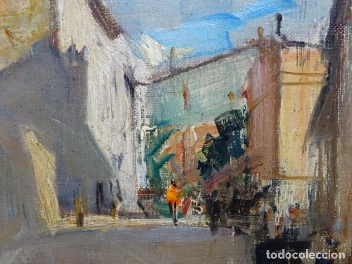 Arte: Excelente óleo de Francesc labarta i planas(1883-1963).cruce de la garriga 1942. - Foto 6 - 215231283