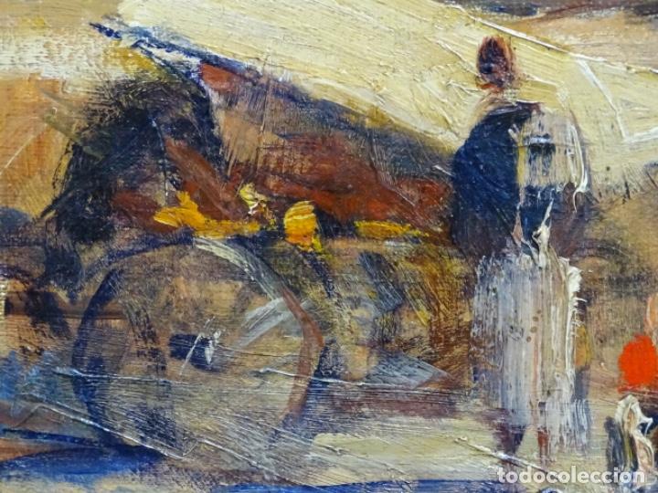 Arte: Excelente óleo de Francesc labarta i planas(1883-1963).cruce de la garriga 1942. - Foto 7 - 215231283