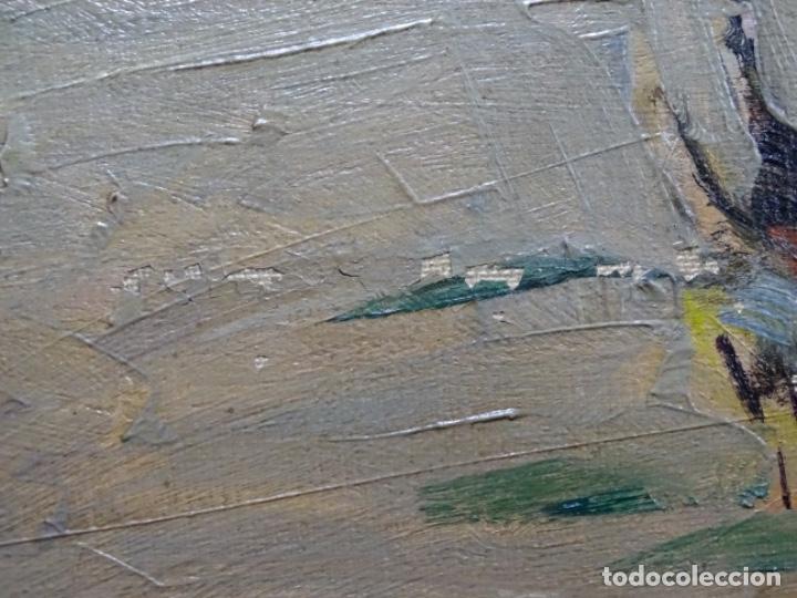 Arte: Excelente óleo de Francesc labarta i planas(1883-1963).cruce de la garriga 1942. - Foto 17 - 215231283