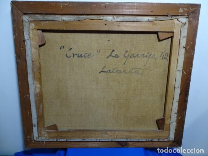 Arte: Excelente óleo de Francesc labarta i planas(1883-1963).cruce de la garriga 1942. - Foto 18 - 215231283