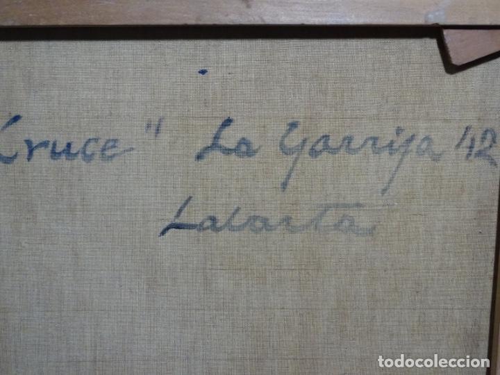 Arte: Excelente óleo de Francesc labarta i planas(1883-1963).cruce de la garriga 1942. - Foto 19 - 215231283