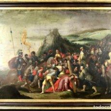 Arte: ESCUELA FLAMENCA DEL SIGLO XVII ÓLEO SOBRE COBRE (42 CM X 59,5CM) JESUS CAMINO DEL CALVARIO. Lote 215236457