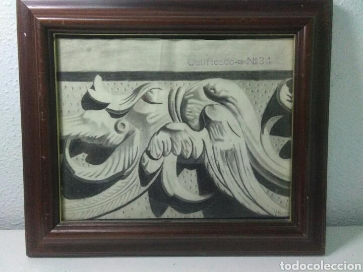 Arte: Antiguo dibujo plumilla y carboncillo de estilo barroco siglo XIX - Foto 2 - 215237293