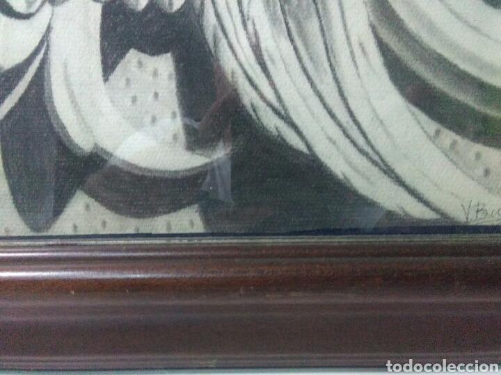 Arte: Antiguo dibujo plumilla y carboncillo de estilo barroco siglo XIX - Foto 4 - 215237293