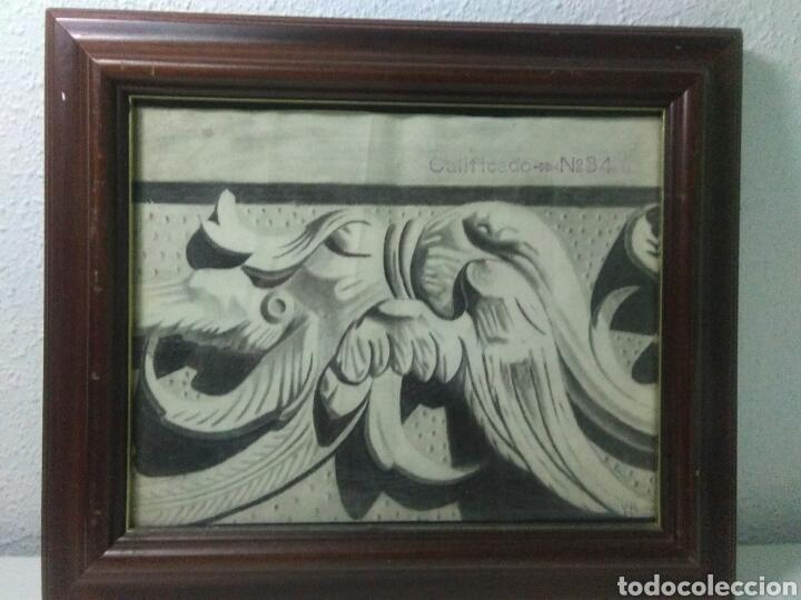 Arte: Antiguo dibujo plumilla y carboncillo de estilo barroco siglo XIX - Foto 5 - 215237293