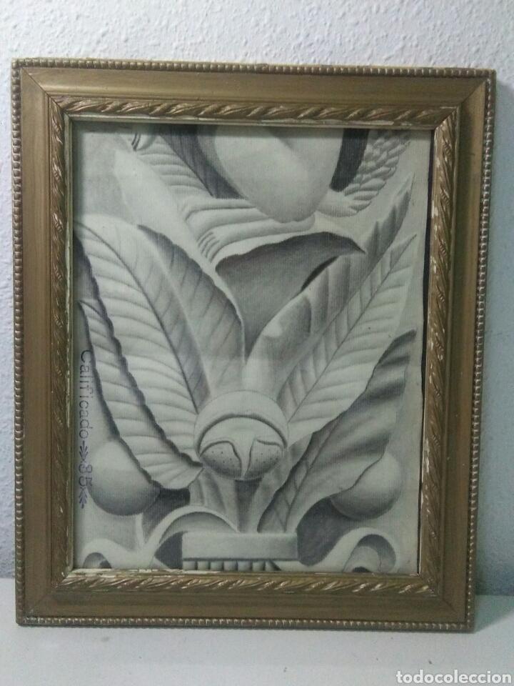 Arte: Antiguo dibujo plumilla y carboncillo estilo barroco siglo XIX - Foto 3 - 215237960