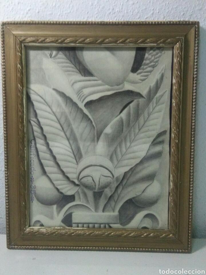Arte: Antiguo dibujo plumilla y carboncillo estilo barroco siglo XIX - Foto 6 - 215237960