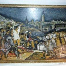 Arte: GRAN OLEO SOBRE TABLEX DE LOS FUSILAMIENTOS DEL TRES DE MAYO. COPIA FRANCISCO DE GOYA. FIRMADA SEROL. Lote 215239691