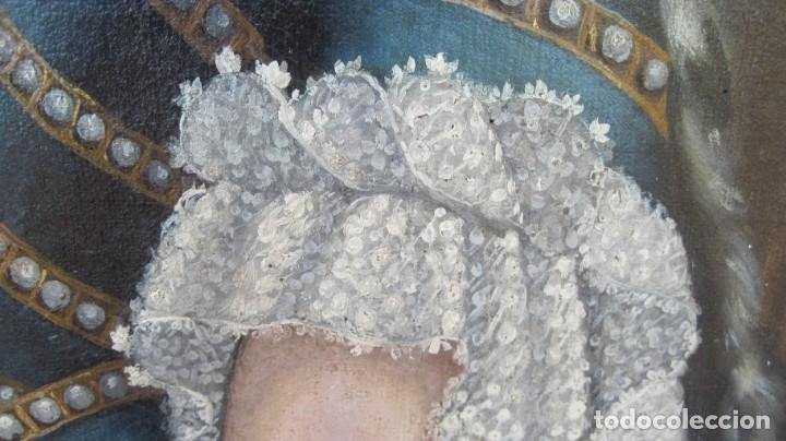Arte: RETRATO DE MARÍA LUISA GABRIELA DE SABOYA. REINA CONCONSORTE DE ESPAÑA, CASADA CON FELIPE V - Foto 4 - 215561695