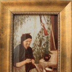 Arte: OLEO SOBRE TABLA FIRMADO POR F. FREÜLLER Y DEDICADO A TOMAS HEREDIA MEDIADOS DEL XIX MALAGA. Lote 215669205