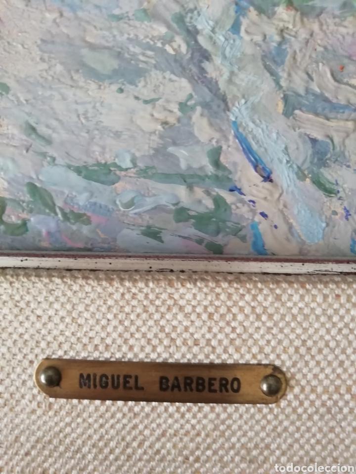 Arte: Óleo sobre tabla de Miguel Barbero firmado, 22 x 27, con marco 50 x 44 cm, titulado al dorso. - Foto 3 - 215699067