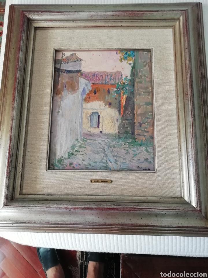 Arte: Óleo sobre tabla de Miguel Barbero firmado, 22 x 27, con marco 50 x 44 cm, titulado al dorso. - Foto 6 - 215699067