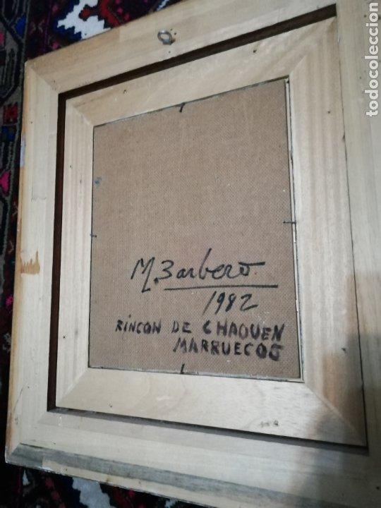 Arte: Óleo sobre tabla de Miguel Barbero firmado, 22 x 27, con marco 50 x 44 cm, titulado al dorso. - Foto 8 - 215699067