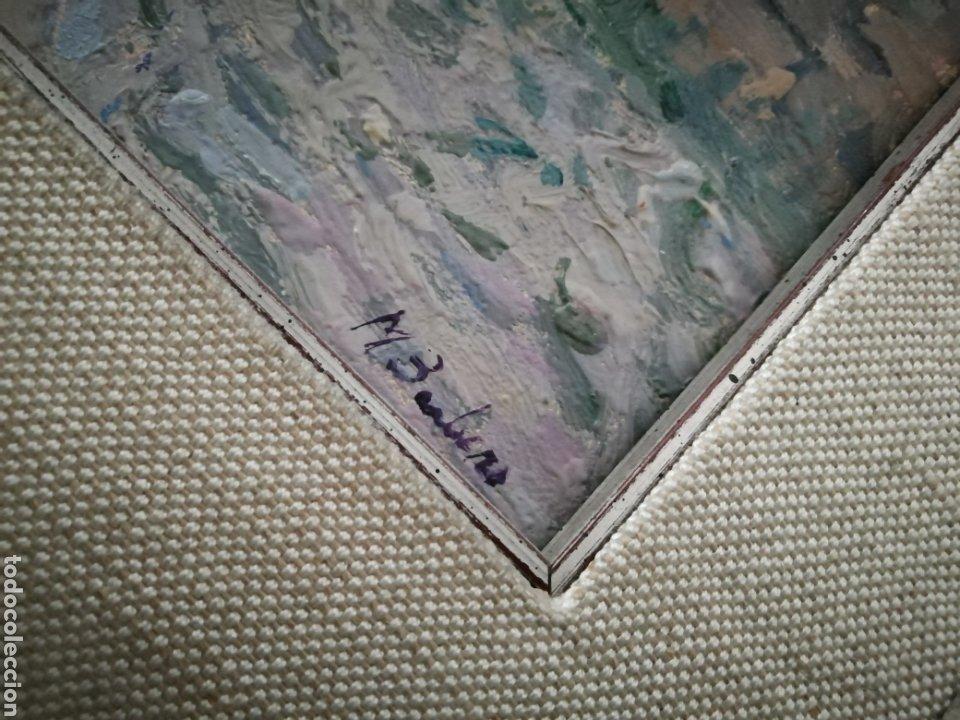Arte: Óleo sobre tabla de Miguel Barbero firmado, 22 x 27, con marco 50 x 44 cm, titulado al dorso. - Foto 11 - 215699067