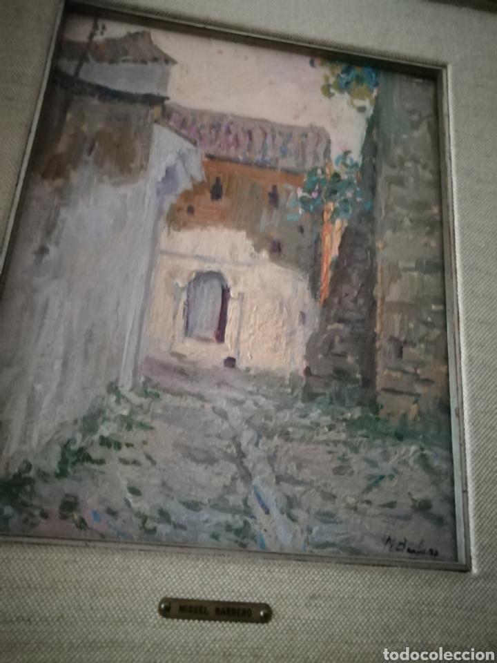 Arte: Óleo sobre tabla de Miguel Barbero firmado, 22 x 27, con marco 50 x 44 cm, titulado al dorso. - Foto 12 - 215699067