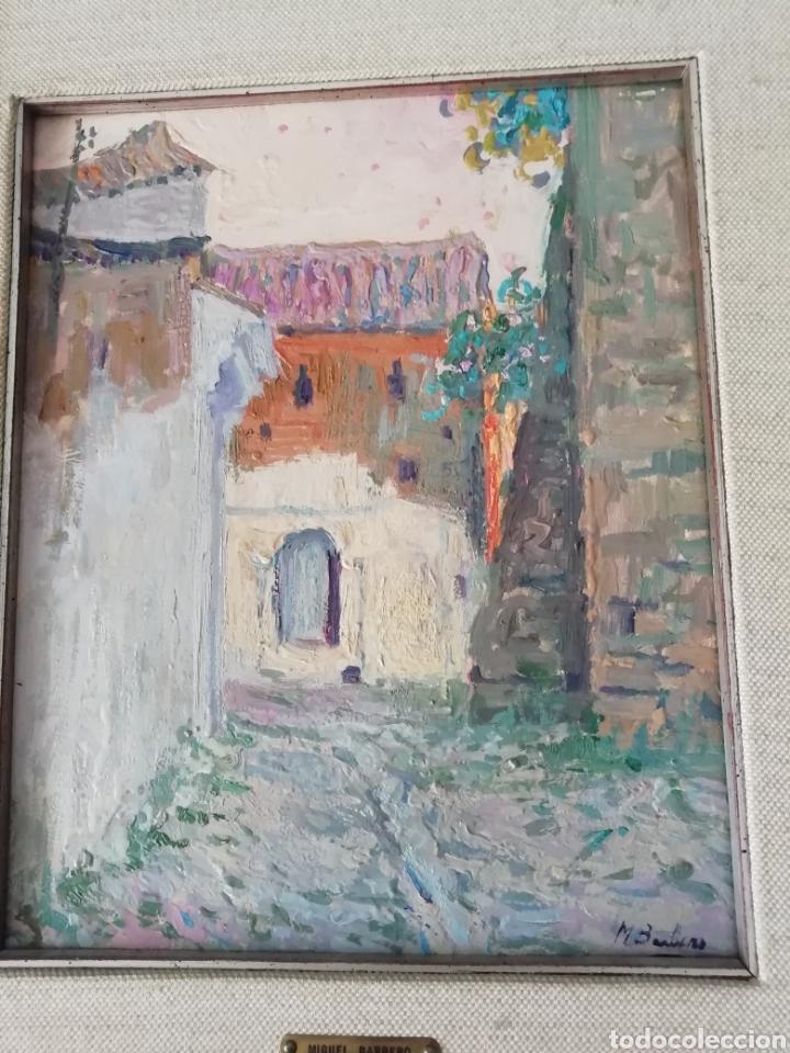 ÓLEO SOBRE TABLA DE MIGUEL BARBERO FIRMADO, 22 X 27, CON MARCO 50 X 44 CM, TITULADO AL DORSO. (Arte - Pintura - Pintura al Óleo Contemporánea )