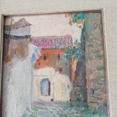 Arte: ÓLEO SOBRE TABLA DE MIGUEL BARBERO FIRMADO, 22 X 27, CON MARCO 50 X 44 CM, TITULADO AL DORSO.. Lote 215699067