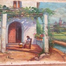 Arte: ÓLEO SOBRE LIENZO PEGADO EN CARTON. Lote 184198177