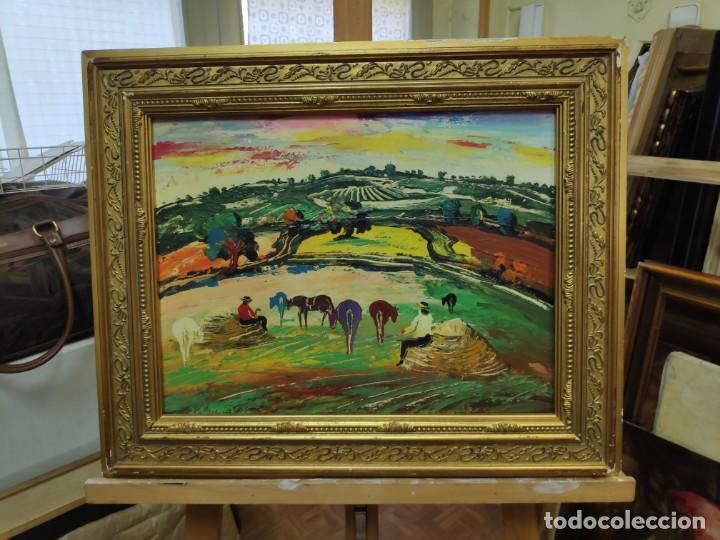 ESCENA RURAL B PALENCIA - OBRA DE ARTE OLEO CUADRO (Arte - Pintura - Pintura al Óleo Contemporánea )