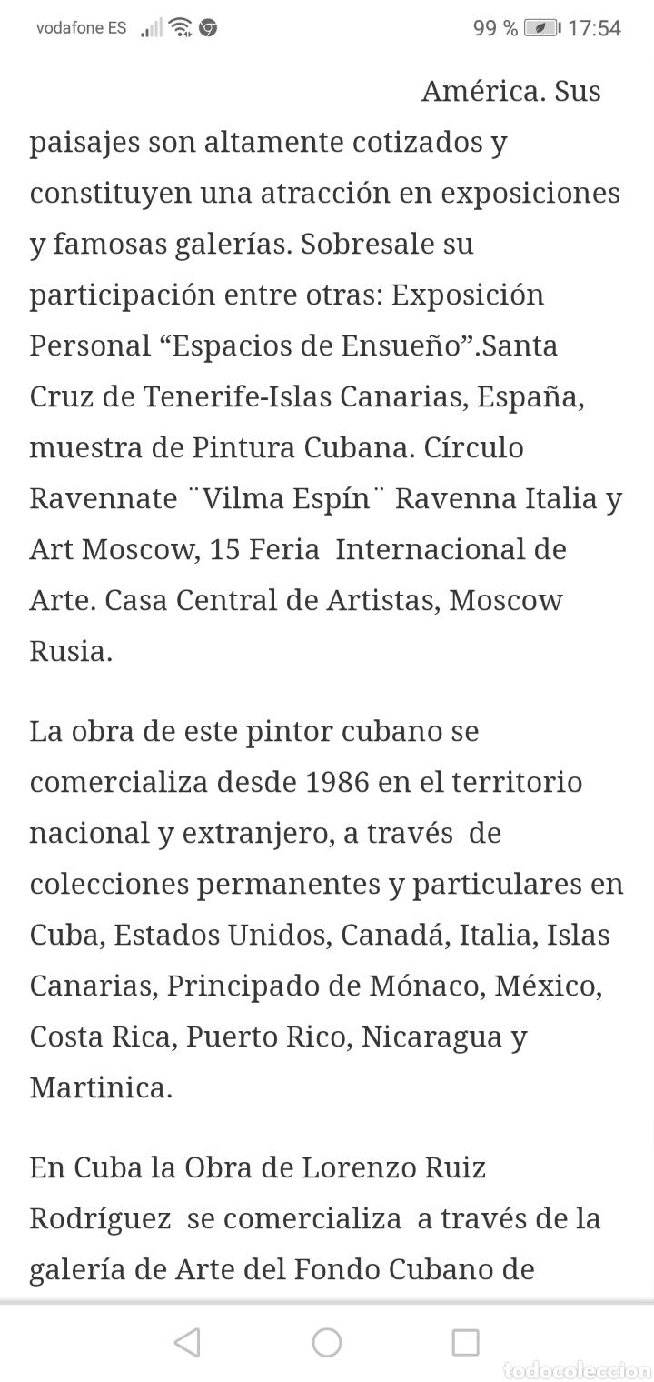 Arte: Oleo del pintor cubano Lorenzo Ruiz...considerado un maestro de paisajes naturales - Foto 7 - 205785000