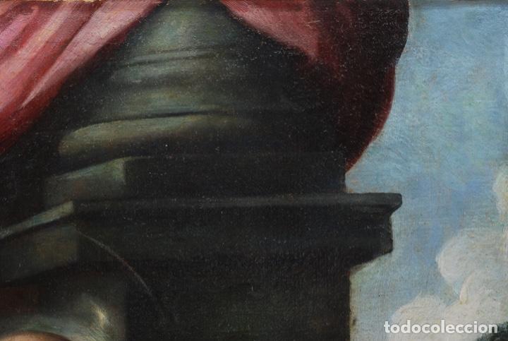 Arte: Óleo lienzo San Felipe Neri Escuela toledana siglo XVII círculo de Juan Sanchez Cotán - Foto 5 - 215944275