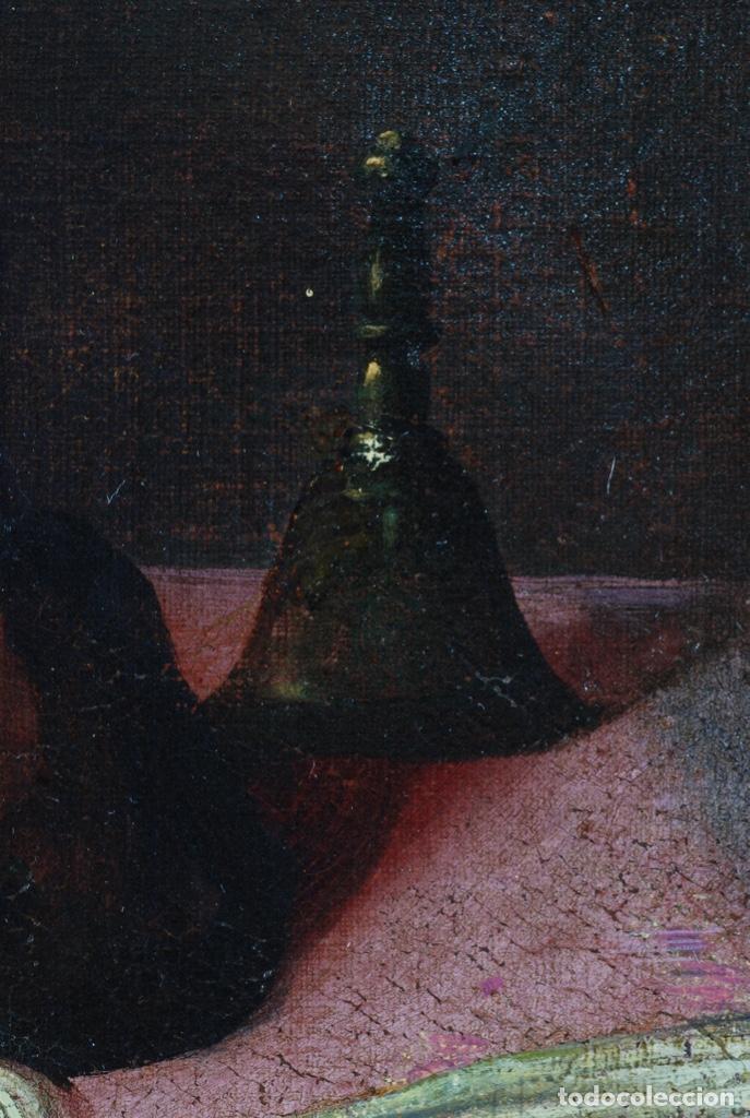 Arte: Óleo lienzo San Felipe Neri Escuela toledana siglo XVII círculo de Juan Sanchez Cotán - Foto 13 - 215944275