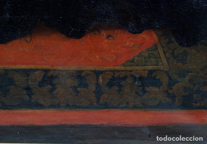 Arte: Óleo lienzo San Felipe Neri Escuela toledana siglo XVII círculo de Juan Sanchez Cotán - Foto 17 - 215944275