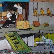 Arte: EL ECLIPSE. ÓLEO SOBRE MADERA, 30X40 CM. AUTOR CRESPO. Lote 215956433