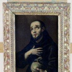 Arte: ÓLEO COBRE EL ÉXTASIS DE SAN FRANCISCO ESCUELA ESPAÑOLA SIGLO XVII. Lote 216001900