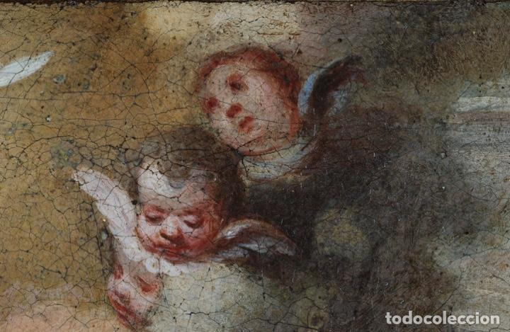 Arte: Óleo lienzo La educación de la Virgen Matías de Arteaga Sevilla siglo XVII - Foto 4 - 216005421