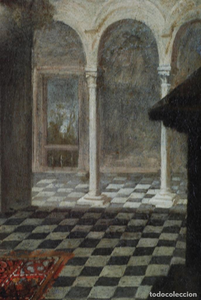 Arte: Óleo lienzo La educación de la Virgen Matías de Arteaga Sevilla siglo XVII - Foto 5 - 216005421