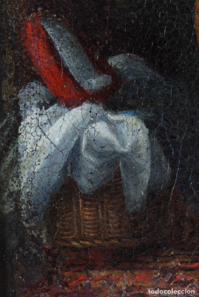 Arte: Óleo lienzo La educación de la Virgen Matías de Arteaga Sevilla siglo XVII - Foto 12 - 216005421