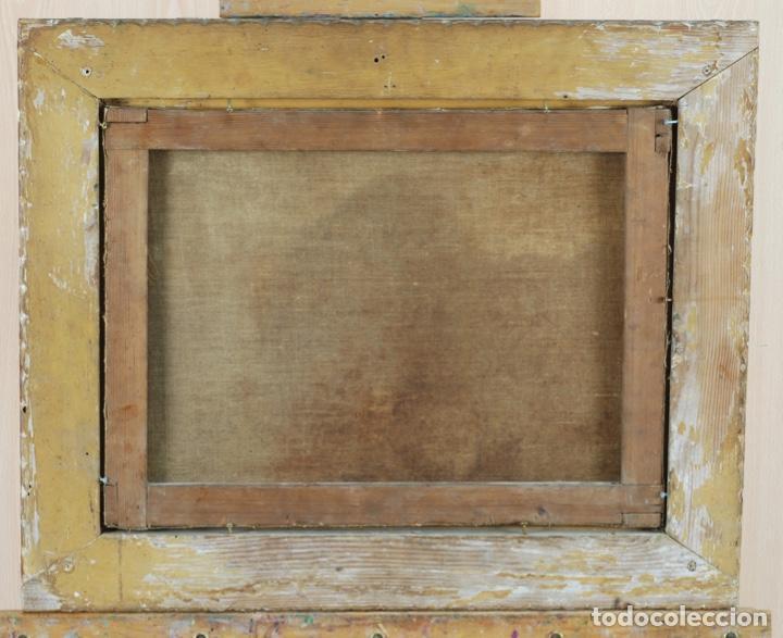 Arte: Óleo lienzo La educación de la Virgen Matías de Arteaga Sevilla siglo XVII - Foto 13 - 216005421