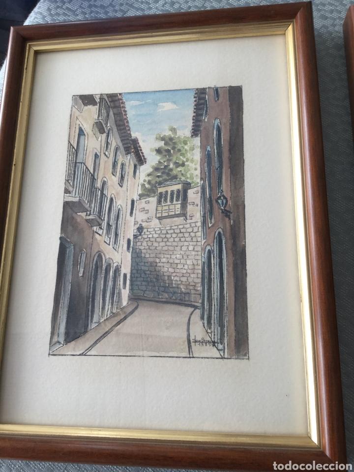 Arte: Dos cuadros pintados a plumilla firmados por el autor - Foto 2 - 216364788